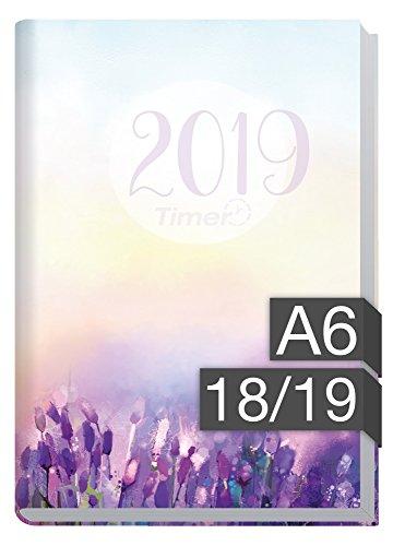Chäff-Timer mini A6 Kalender 2018/2019 [Flieder] 18 Monate Juli 2018-Dezember 2019 - Terminkalender mit Wochenplaner - Organizer - Wochenkalender