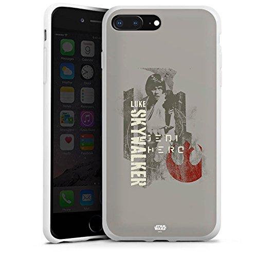 Apple iPhone 7 Silikon Hülle Case Schutzhülle Star Wars Merchandise Fanartikel Luke Skywalker Silikon Case weiß