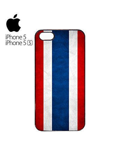 Thailand Flag Retro Vintage Mobile Phone Case Cover iPhone 5&5s White Blanc