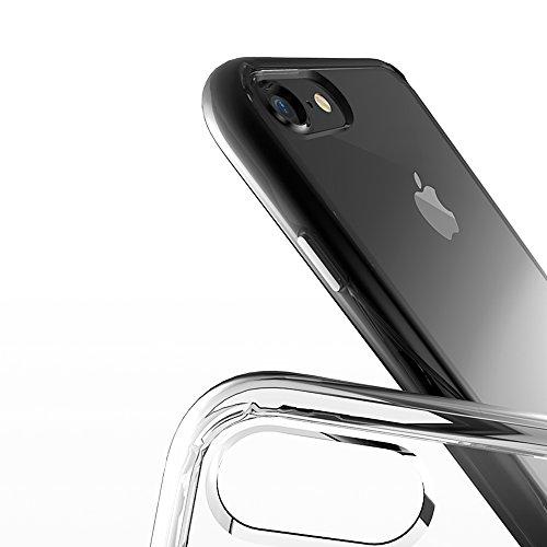 iPhone 7 Hülle transparent, Sinjimoru iPhone 7 Schutzhülle transparent und dünn / iPhone 7 TPU Case mit Komplettschutz. AirClo Case für iPhone 7, Kristall-Klar. Kristall-Grau für iPhone 7