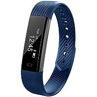 BreLINE Pulsera Actividad Pulsómetro y Podómetro Pulsómetro Ritmo Reloj Fitness Podómetro,Sueño,Notificación de SMS Reloj Sport Compatible con iOS,Android Smartphone Soporta Llamada Mensaje