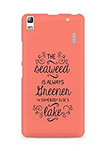 AMEZ seawead is greener in others lake Back Cover For Lenovo K3 Note