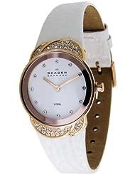 Skagen Damen-Armbanduhr XS Analog Quarz Leder 818SRLW