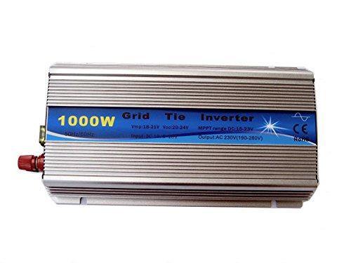 Preisvergleich Produktbild ECO-WORTHY 1KW 12V-220V Micro Grid Tie Inverter Pure Sine Wave W/ MPPT Function for Solar