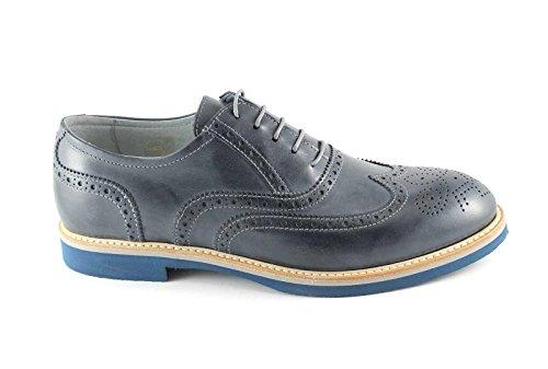 NERO GIARDINI 4120 blu oceano scarpe uomo sportive eleganti francesina Blu