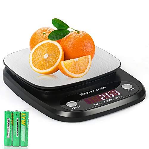 kainuoa Bascula Cocina Báscula Digital Cocina de Acero Inoxidable Balanza de Alimentos...