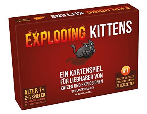 Asmodee- Exploding Kittens Juego de Cartas y Fiestas en alemán, Multicolor, Large (ASMD0007)