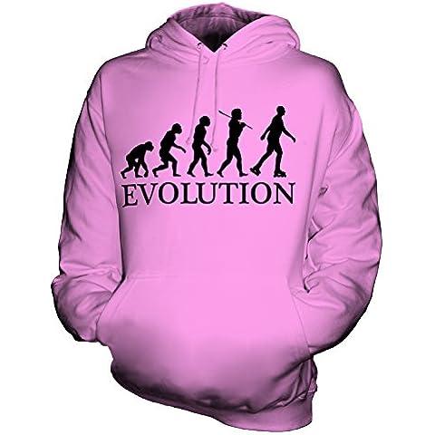 CandyMix Pattinaggio In Linea Evoluzione Umana Unisex Uomo Donna Felpa con cappuccio