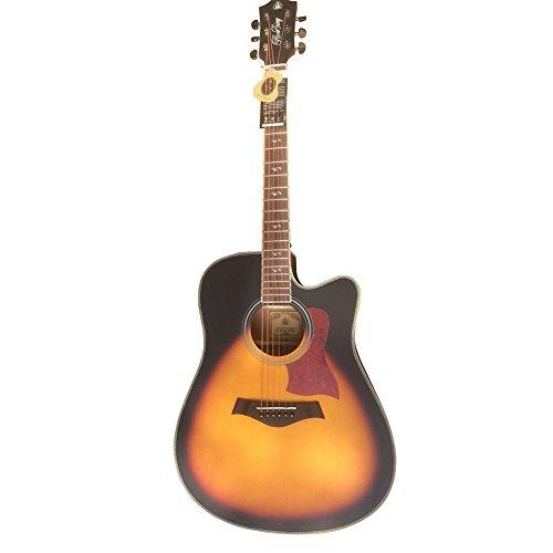 HONSING® 41 pollici chitarra acustica / barile scheggiature pannelli laterali in multistrato di abete rosso (12 Guitar Amp)
