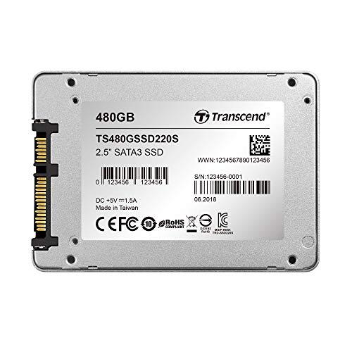 """Foto Transcend TS480GSSD220S Solid State Drive, SATA III, 6 GB/s, SSD220S 2.5"""", 480 GB"""