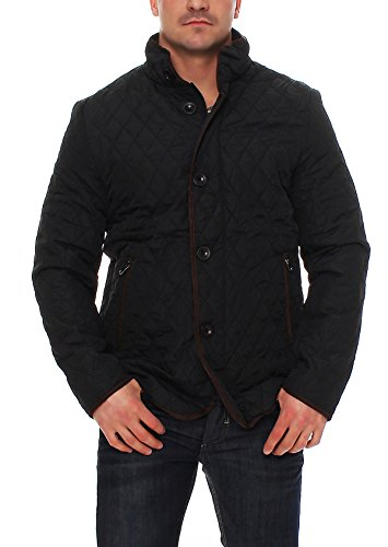 Epister Men`s`Wear Herren Steppjacke Übergangsjacke Rauten-Stepp Stehkragen Outdoor - 2