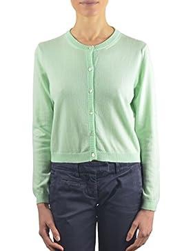 Annalisa Bucci Cashmere 46d59832, Cardigan Donna, Verde (Verde Acqua), 44 (Taglia Produttore:44)