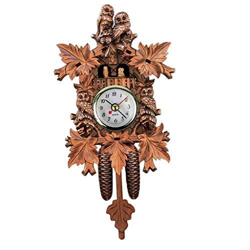 non-brand MagiDeal Holz Kuckucksuhr Kuckuck Uhr Schwarzwald Wanduhr Ornament für Wohnzimmer Kinderzimmer - N