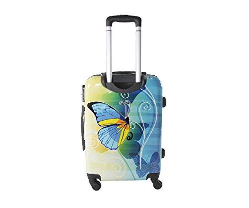 41KAJGVxVaL - Equipaje de mano 55 cm JUSTGLAM Maleta cabina 4 ruedas trolley cascara dura adecuadas para vuelos de bajo cost art colorful