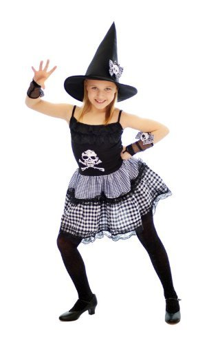 Punk Hexe Kinder Halloween-Kostüm-groß (Alter 10-12) (Punk Halloween Kostüme Für Kinder)