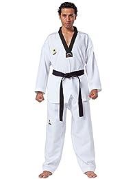 Kwon Taekwondo Anzug Fightlite schwarzes Revers Gi TKD Dobok