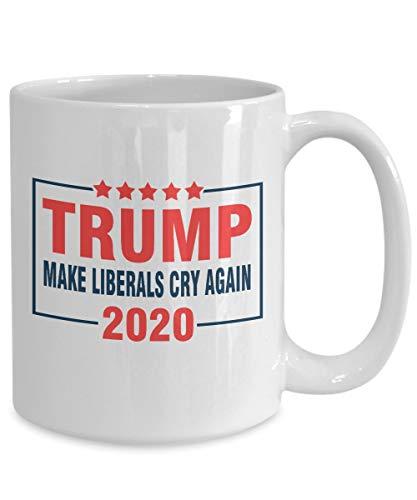 Lustige Trump 2020 Tasse mit Aufschrift'Make Liberals Cry Again', lustige Amerika-Flagge,...