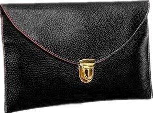 Ardisle Mesdames Grandes En Cuir Style Enveloppe Soir Pochette Femmes Chaussures De Mariage (Noir)