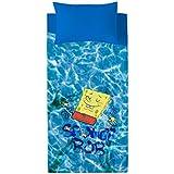 Euromoda Licencias Juego De Sábanas Bob Esponja Pool Azul/Amarillo 160 x 270 + 145 x 100 cm