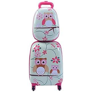 2tlg-Kinderkoffer-Set-Rucksack-Hartschalenkoffer-Kindergepck-Reisegepck-Kindertrolley