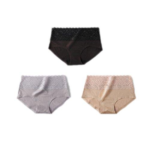 3 Packungen Von Frauen Ice Thema Ohne Trace Frau Unterwäsche-reizvolle Spitze-Gewebe Taille Baumwolle Schrittgurt Breath Hip Hip Pants A1