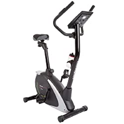 Ultrasport exercise bike Racer 800A with hand pulse sensors and drinking bottle / ergometer with multifunction display and 12 programs with 16 resistance levels - ideal for fitness and endurance training