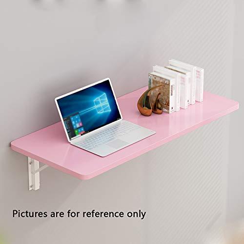 Attraktives Tablett Aus Holz (YZERTLH Klapptisch Massivem Holz Kleiner Tisch Kreativität Computertisch Küche Aufbewahrungstisch Kinderlerntisch Wandtisch,Pink-90x40)