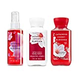 Bath & Body Works Japanische Kirschblüte Bundle Mist + Shower Gel + Body Lotion 3Oz/88ml