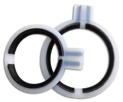 2 flexible Ringelektroden, hochwertige Penis Elektroden zur Inkontinenzbehandlung & Erektionshilfe