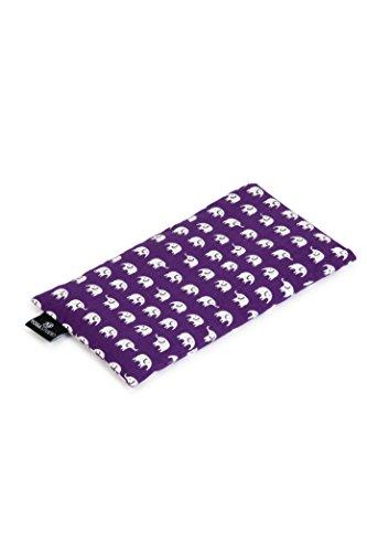 YogaStudio Augenkissen, mit einer aus französischem Bio-Lavendel und Leinsamen bestehenden Füllung, Elephant Purple