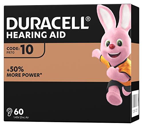 Duracell Hörgerätebatterien Größe 10, 60er Pack