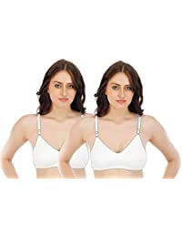 Fabme Women's Double Layer, Hosiery Cotton Bra (Pack of 2)