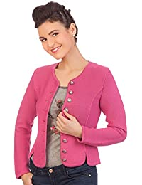 Damen Trachten Strickjacke - MERAN - pink, anthrazit