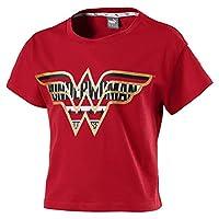 Puma Wonder Women Tee G red Shirt For Kids, Size 5-6 Years