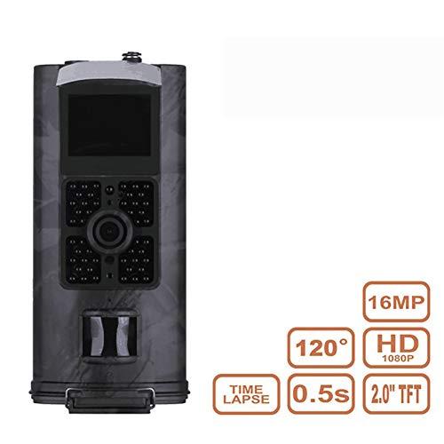 QinLL Trail Game Kamera 16MP 1080P wasserdichte Jagdspähkamera mit 120 ° Erfassungsbereich Bewegungsaktiviertes Nachtsichtgerät zur Überwachung von Wildtieren, a -