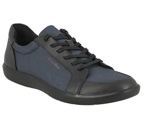 Calvin Klein Macabee brsh leat ballist nylon black dk navy