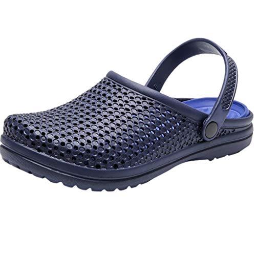 Dorical Sandalen/Strandschuhe Pantoletten Sommer Hausschuhe Wasserschuhe Badeschuhe Flach Aqua Slippers rutschfest Gartenschuhe Atmungsaktiv Beach Schuhe für Damen Herren