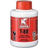Colle PVC pression/evac. liquide griffon t88 pot 0.250l avec pinceau