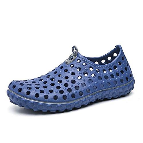 HILOTU - Herren-Sandalen Outdoor Walking Clogs Sandalen Hohl Vamp Wasser Schuhe Strand Athletic Sandalen (Color : Blau, Größe : 42 EU) -