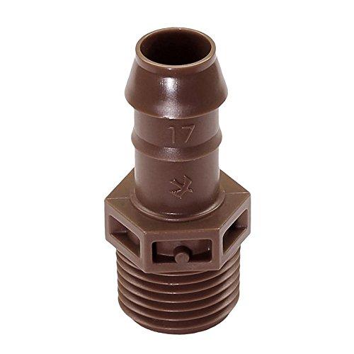 Rain Bird Tropfrohr Dripline XFD 16 mm, 33 cm - druckausgleichend + selbstreinigend, 2,3 l/h überirdisch , XFF Verbinder Bogen T-stück Kupplung Adapter (XFF-MA-050 Adapter 1/2 AG) Ma-adapter