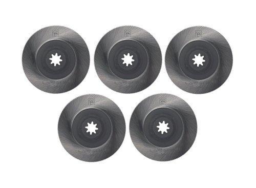 Preisvergleich Produktbild Fein HSS-Sägeblatt, Kreisform, gekröpft, VE 5, Durchmesser 85 mm, 63502144020