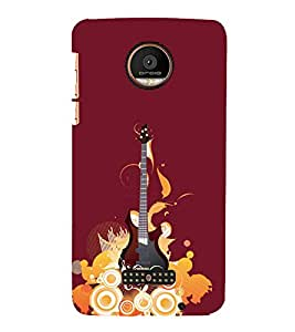 Music Guitar 3D Hard Polycarbonate Designer Back Case Cover for Motorola Moto Z Force :: Motorola Moto Z Force Droid