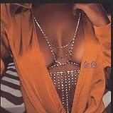 Simsly Beach Party Crystal borla cuerpo cadena de diamantes de imitación oro collar cadena arnés bikini joyas para mujeres y niñas (oro)