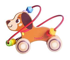 Iwood- Laberinto para Bebé de Madera Infantil: Perro, (12010)