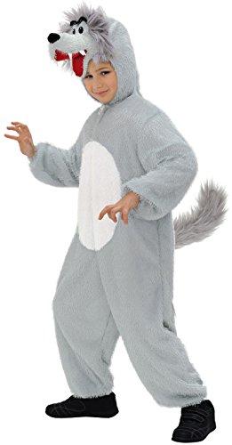 Widmann 9791P - Kinderkostüm Wolf, Overall mit Maske, Größe 134