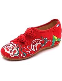 Bordado Zapatos/Alpargatas/Merceditas/Talón Inclinado Zapatos Bordados de Mujer, Zapatos de