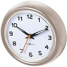 interdesign 43585eu forma horloge ventouses pour salle de bain plastique satin 33 x - Pendule Salle De Bain