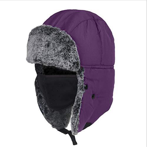 MS.REIA Warme Hüte Winter Outdoor Cap Fleece Beanie Cap Headwear Mit Ohr Abdeckungen Gesichtsmaske Für Schnee Wandern Ski Outdoor 2 stücke