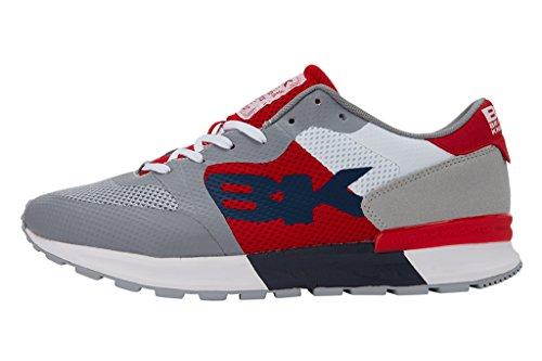 British Knights Impact Damen Sneakers Gris/blanc/rouge/bleu marine
