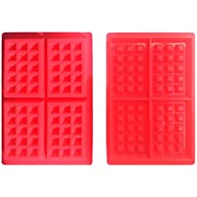 Seguridad 4-cavity molde gofres para tarta Chocolate sart¨¦n de silicona molde